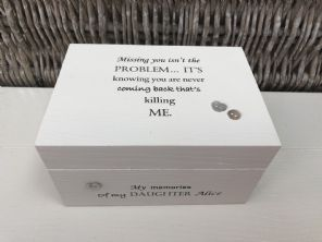 Personalised In Memory Of Box Loved One ~ DAUGHTER ~ any Name Bereavement Loss - 253570225738